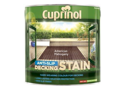 Cuprinol Anti-Slip Decking Stain American Mahogany 2.5 Litre