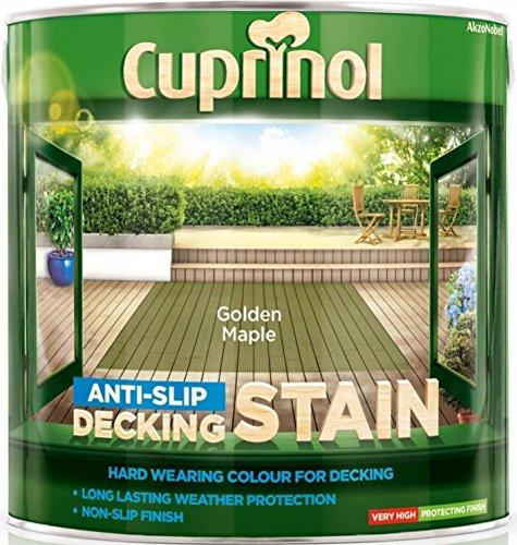 Cuprinol 2.5l Anti Slip Decking Stain - Golden Maple