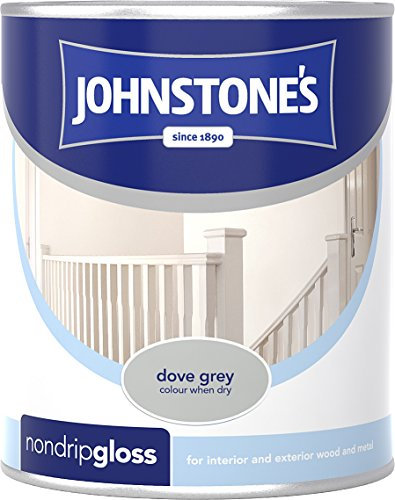 Johnstone's 303877 250ml Non Drip Gloss Paint - Dove Grey