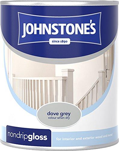 Johnstone's 303877 250ml Non Drip Gloss Paint - Dove Grey