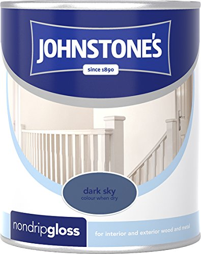 Johnstone's 303886 750ml Non Drip Gloss Paint- Dark Sky
