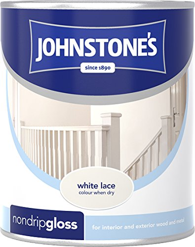 Johnstone's 303895 750ml Non Drip Gloss Paint - White Lace