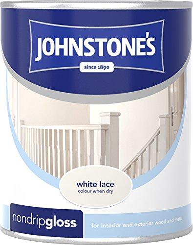 Johnstone's 303895 750ml Non Drip Gloss Paint - White Lace