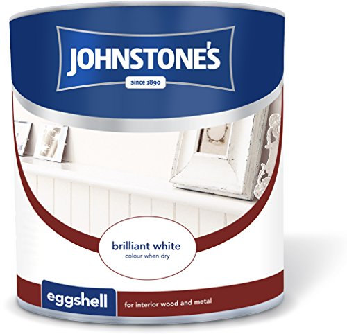 Johnstone's 303905 2.5 Litre Eggshell Paint - Brilliant White