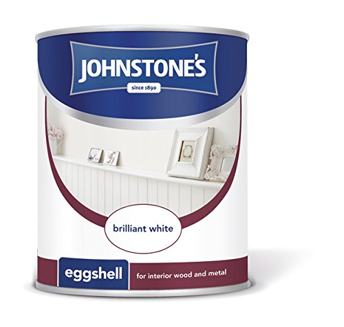 Johnstone's 303906 750ml Eggshell Paint - Brilliant White