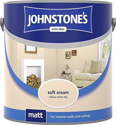 Johnstone's 304032 2.5 Litre Matt Emulsion Paint - Soft Cream