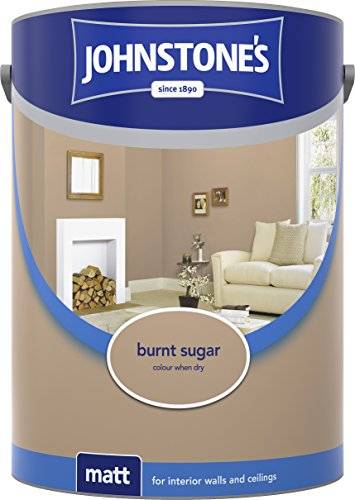 Johnstone's 304047 5 Litre Matt Emulsion Paint - Burnt Sugar