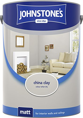 Johnstone's 304048 5 Litre Matt Emulsion Paint - China Clay