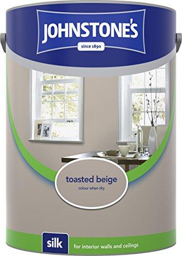 Johnstone's 304090 5 Litre Silk Emulsion Paint - Toasted Beige