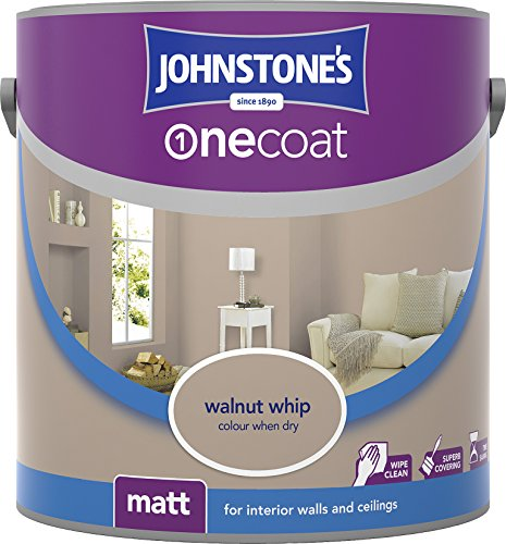Johnstone's 304123 2.5 Litre One Coat Matt Emulsion Paint - Walnut Whip