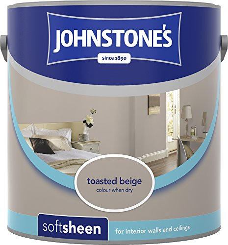 Johnstone's 304172 2.5 Litre Soft Sheen Emulsion Paint - Toasted Beige