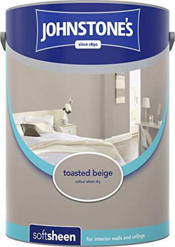 Johnstone's 304195 5 Litre Soft Sheen Emulsion Paint - Toasted Beige
