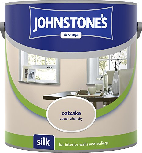 Johnstone's 306582 2.5 Litre Silk Emulsion Paint - Oatcake