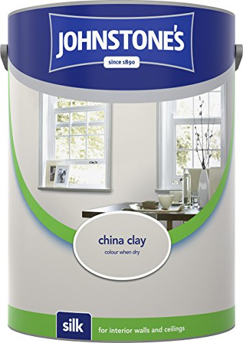 Johnstone's 306596 5 Litre Silk Emulsion Paint - China Clay