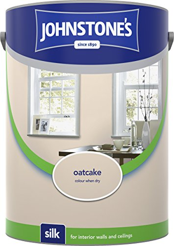 Johnstone's 306603 5 Litre Silk Emulsion Paint - Oatcake