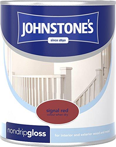 Johnstone's 303884 750ml Non Drip Gloss Paint - Signal Red