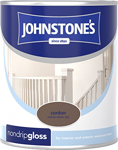 Johnstone's 303888 750ml Non Drip Gloss Paint - Conker