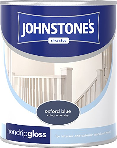 Johnstone's 303892 750ml Non Drip Gloss Paint - Oxford Blue