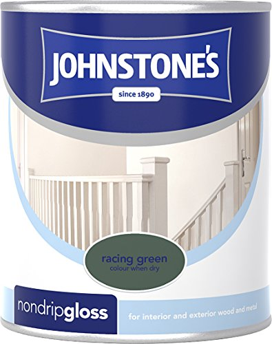 Johnstone's 303894 750ml Non Drip Gloss Paint - Racing Green