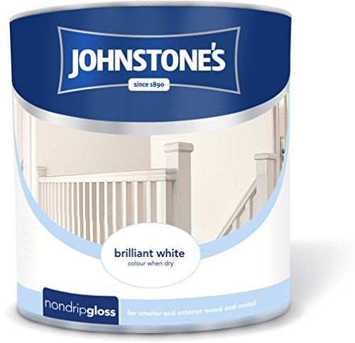 Johnstone's 306535 2.5 Litre Non Drip Gloss Paint - Brilliant White