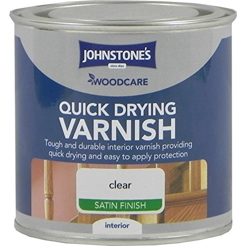Johnstones Woodcare Quick Drying Interior Varnish Satin Clear 250ml