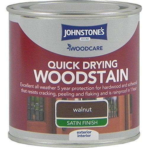 Johnstones Woodcare Quick Drying Interior/Exterior Woodstain Walnut 250ml