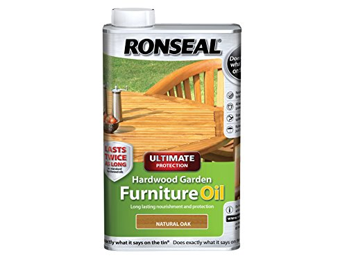 Ronseal Ultimate Protection Hardwood Garden Furniture Oil Natural Oak 1 Litre