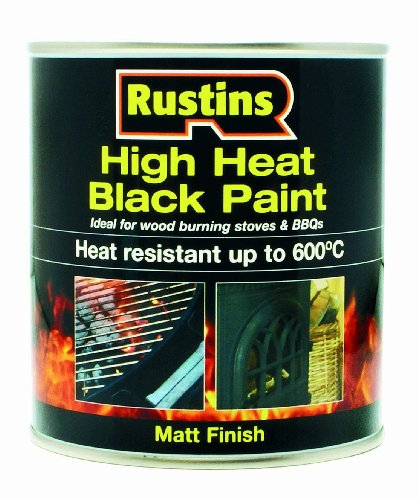 Rustins 250ml High Heat Paint - Black