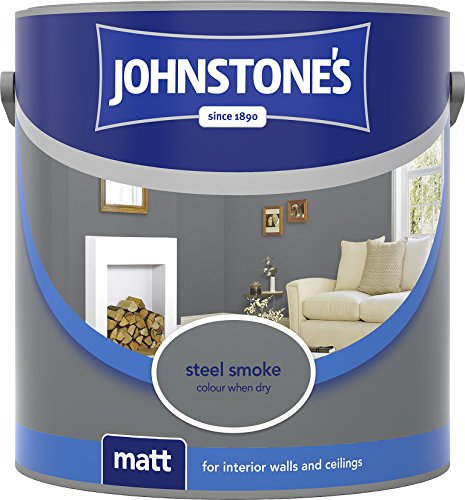 Johnstone's 305978 2.5 Litre Matt Emulsion Paint - Steel Smoke