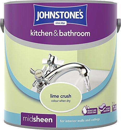 Johnstone's 305994 2.5 Litre Kitchen And Bathroom Emulsion Paint - Lime Crush