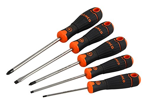 Bahco BAHCOFIT Screwdriver Set of 5 Slotted / Pozi