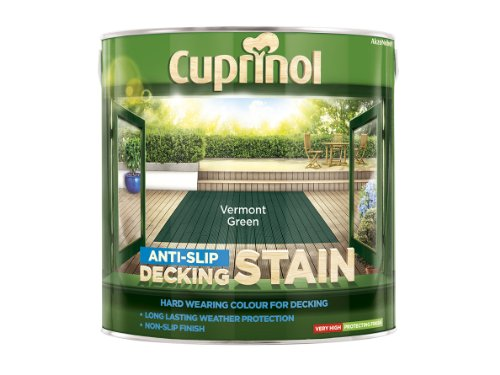 Cuprinol Anti-Slip Decking Stain Vermont Green 2.5 Litre