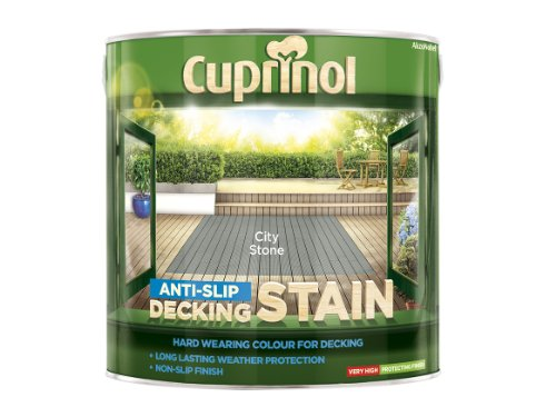 Cuprinol Utdscs25l Anti Slip Decking Stain City Stone 2.5 Litre