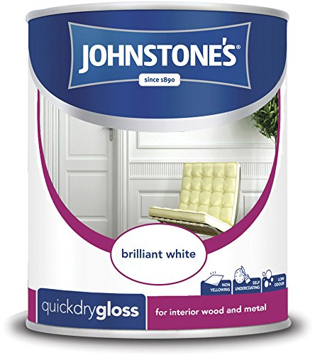 Johnstone's 306751 750ml Quick Dry Gloss Paint - Brilliant White