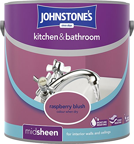 Johnstone's 307062 2.5 Litre Kitchen And Bathroom Emulsion Paint - Raspberry Blush