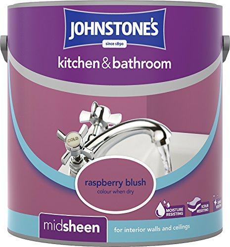 Johnstone's 307062 2.5 Litre Kitchen And Bathroom Emulsion Paint - Raspberry Blush