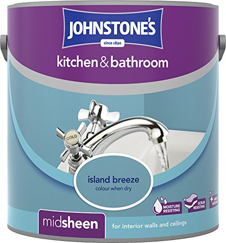 Johnstone's 307063 2.5 Litre Kitchen And Bathroom Emulsion Paint - Island Breeze
