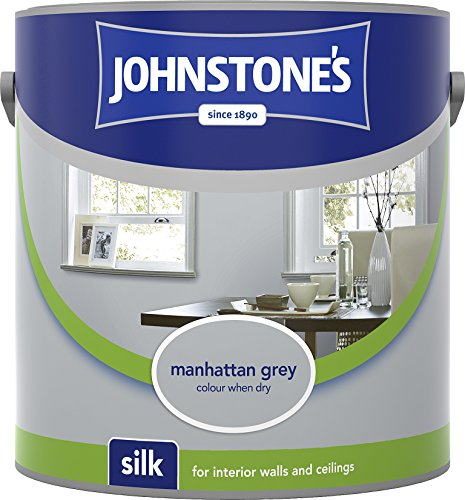 Johnstone's 307066 2.5 Litre Silk Emulsion Paint - Manhattan Grey