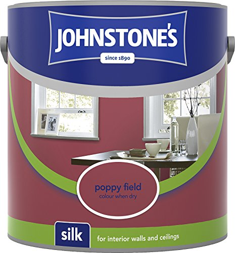 Johnstone's 307067 2.5 Litre Silk Emulsion Paint - Poppy Field