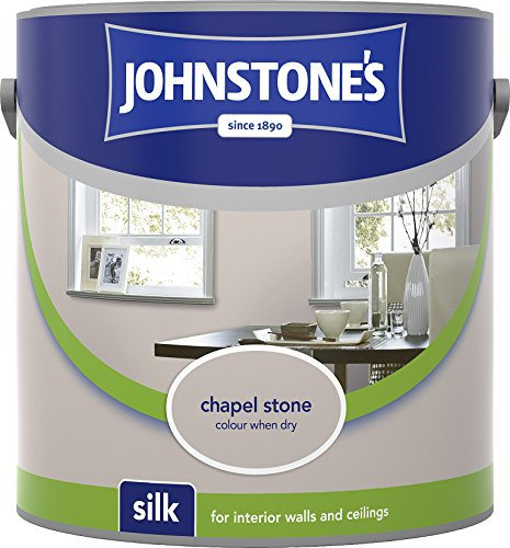 Johnstone's 307072 2.5 Litre Silk Emulsion Paint - Chapel Stone