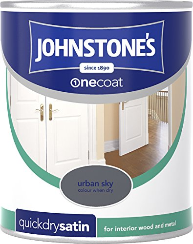 Johnstone's 307076 750ml One Coat Quick Dry Satin Paint - Urban Sky