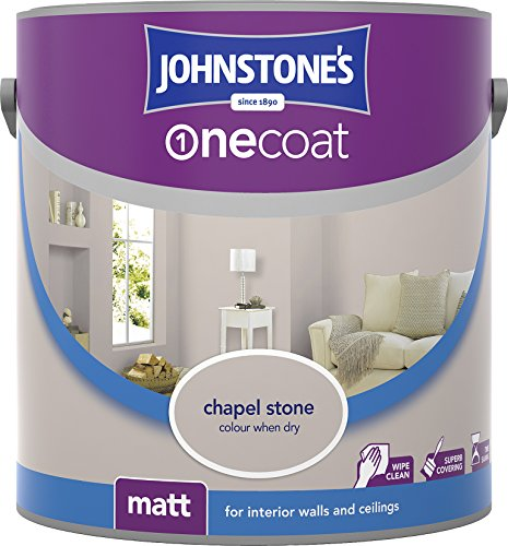Johnstone's 307079 2.5 Litre One Coat Matt Emulsion Paint - Chapel Stone