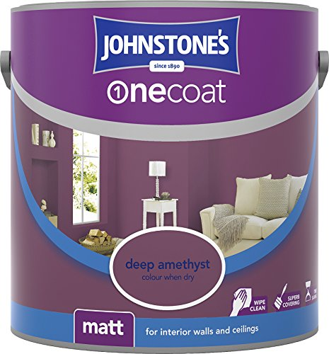 Johnstone's 307081 2.5 Litre One Coat Matt Emulsion Paint - Deep Amethyst