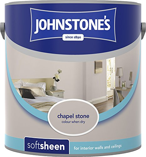 Johnstone's 307084 2.5 Litre Soft Sheen Emulsion Paint - Chapel Stone