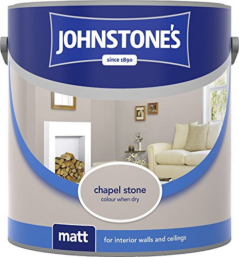 Johnstone's 307092 2.5 Litre Matt Emulsion Paint - Chapel Stone