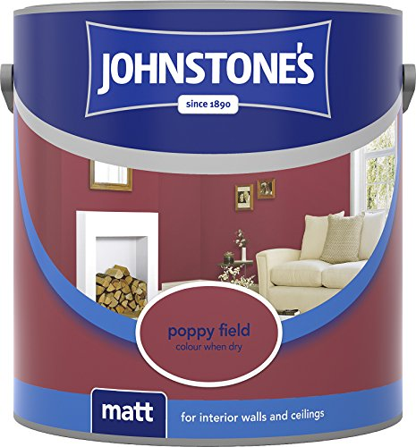 Johnstone's 307096 2.5 Litre Matt Emulsion Paint - Poppy Field