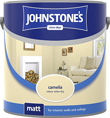 Johnstone's 307097 2.5 Litre Matt Emulsion Paint - Camellia