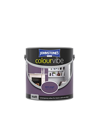 Johnstone's 307110 2.5 Litre Colour Vibe Emulsion Paint - Dark Angel