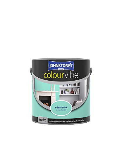 Johnstone's 307785 2.5 Litre Colour Vibe Emulsion Paint - Miami Mint