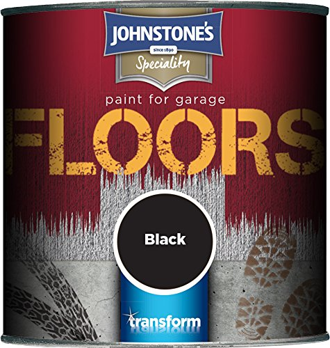 Johnstone's 307937 250ml Garage Floor Paint - Black